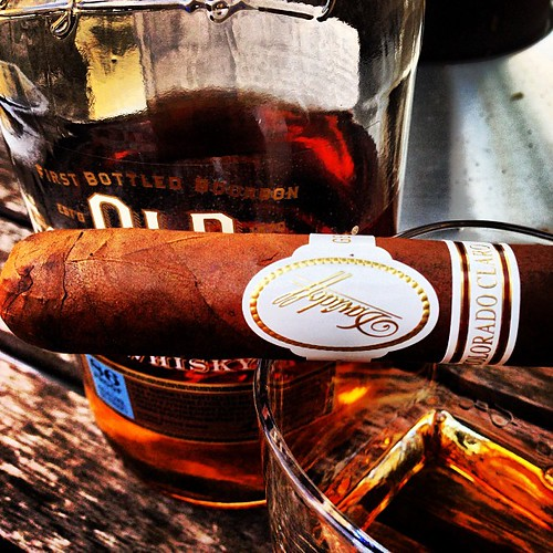 Some Old Forester and a Davidoff Colorado Clari courtesy of family to lift my spirits.