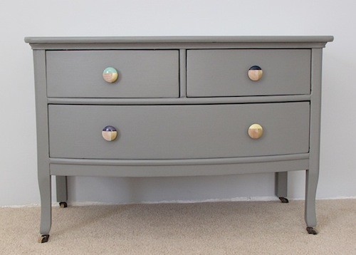 Hand Painted Antique Dresser Before and After