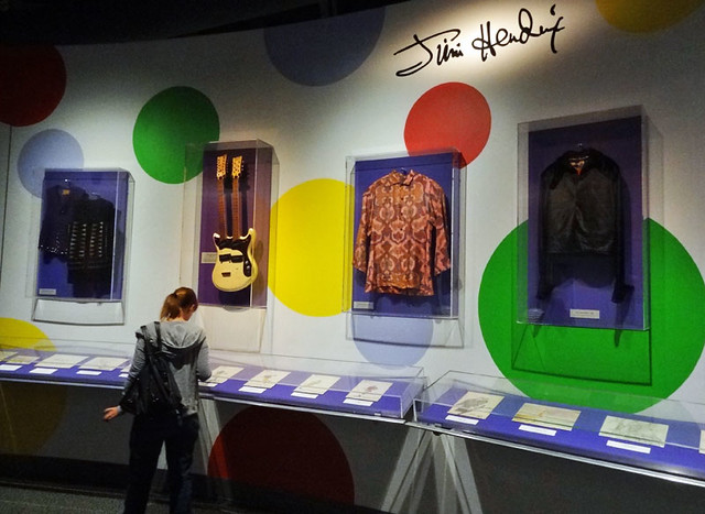 hendrix rock and roll hall of fame exhibits and memorabilia