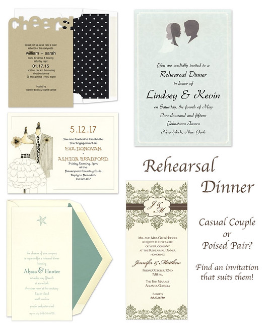 Showcase: Rehearsal Dinner Invitations