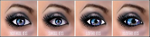 Sterling Artistry - iris size selections