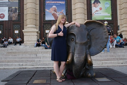 I think this is for kids, so clearly I wanted a picture with the elephant at the Natural History museum.