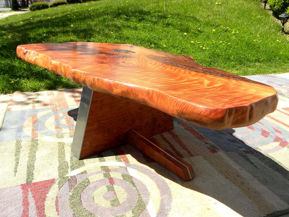 Coffee Table Redwood Burl Garry Zayon Mid Century Modern George Nakashima Style Ebay