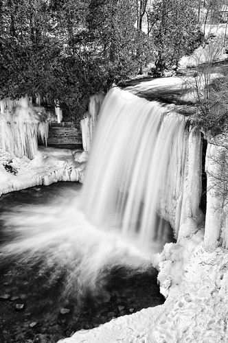 5seconds bw blackandwhite blur bridalveilfalls colorefex detailextractor frozen gnd2s ice icicle kagawong kagawongriver lakehuron manitoulinisland mudgebay nd106 neutraldensityfilter niagaraescarpment niksoftware northchannel northernontario one ontario plungewaterfall silverefex snow spring sunny tonalcontrast vantage viveza water waterfall winter winterspring