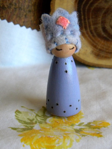 Lavender Princess, https://www.etsy.com/listing/130554865/peg-doll-princess-small-wooden-peg-doll?ref=shop_home_active | by MamaWestWind