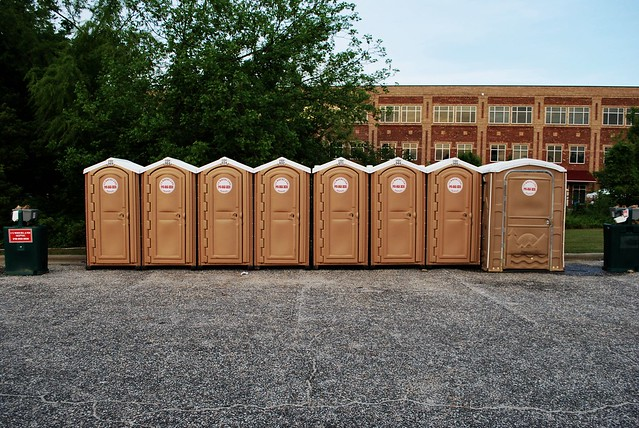 porta potty row