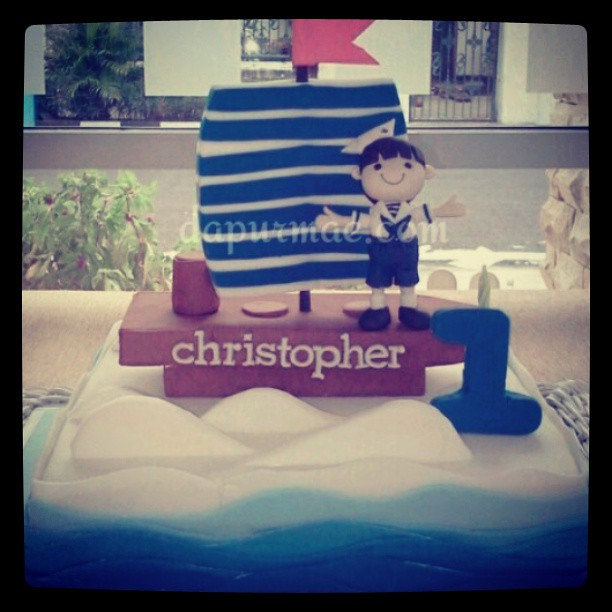 Navy cake #surabaya #cake #decorating #fondant #dapurmae #birthday
