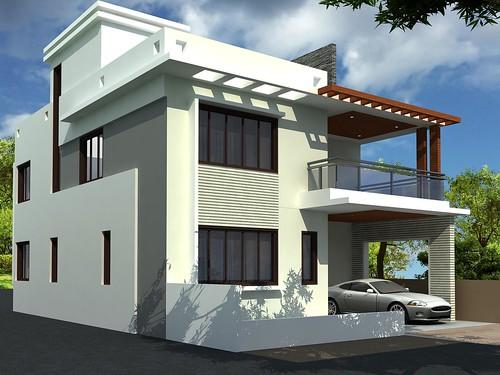 modern duplex house design - Modern Duplex House Designs