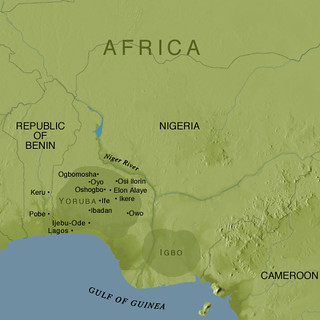 Map of Yoruba and Igbo People