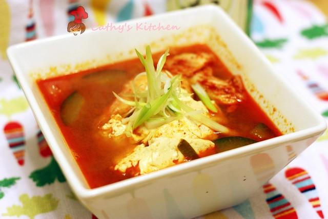 韓式辣泡菜豆腐豬肉湯 Pork Kimchi JjiGae 3