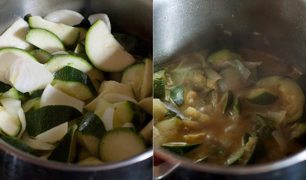 Cocción en el mismo jugo de las verduras