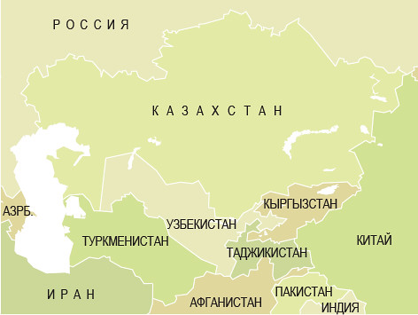 Central Asia / Средняя Азия | A political map of Central Asi ...