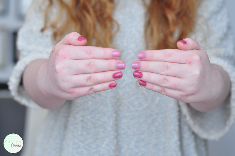 china glaze life is rosy pink-ie promise notd nail polish pink creme rottenotter rotten otter blog 3