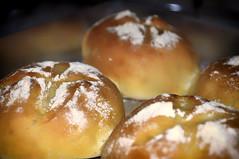 pastry(0.0), bread(0.0), profiterole(0.0), anpan(0.0), pä…czki(0.0), danish pastry(0.0), baking(1.0), sufganiyah(1.0), baked goods(1.0), food(1.0), dessert(1.0), cuisine(1.0), beignet(1.0), brioche(1.0),