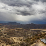 Stormy Skies Over Bloom House at McDonald Observatory