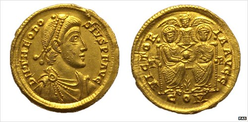 gold solidus of Emperor Theodosius I
