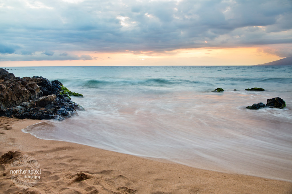 Mokapu Beach Hawaiian Sunset Long Exposure