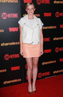Amy Smart Leather Vest Celebrity Style Women's Fashion