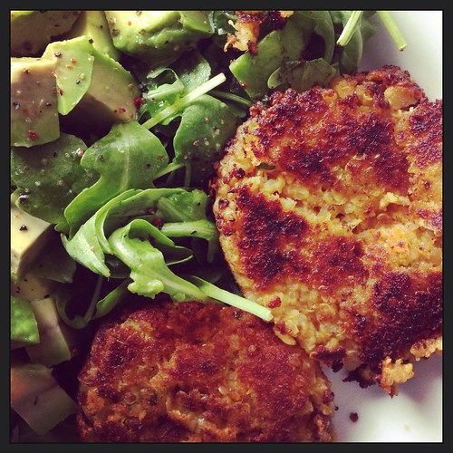 sweet potato, chickpea and quinoa cakes