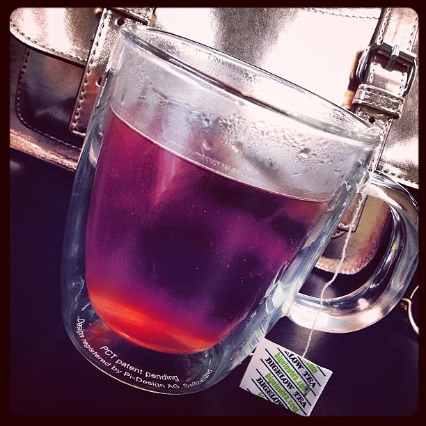 Pink tea! #pomegranate #yum #bigelowtea #bodenusa #instagood
