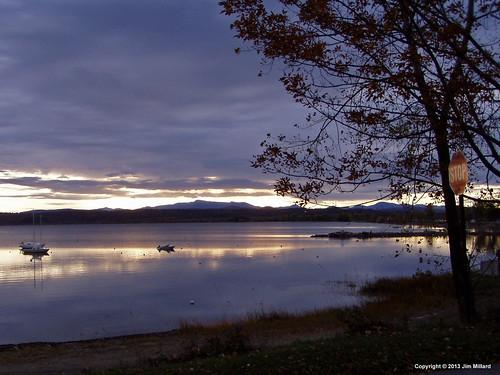 sunrise vermont scenic sandbar mtmansfield lakechamplain southhero