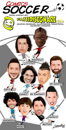 Comics Soccer by Giuseppe Lombardi