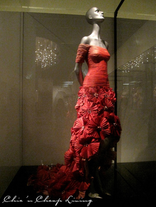 Valentino, Taffeta Rosette 2003 at Valentino Retrospective - by Chic n Cheap Living