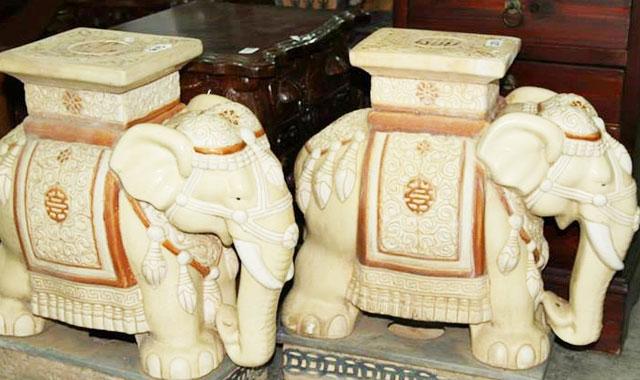vintage elephant statue