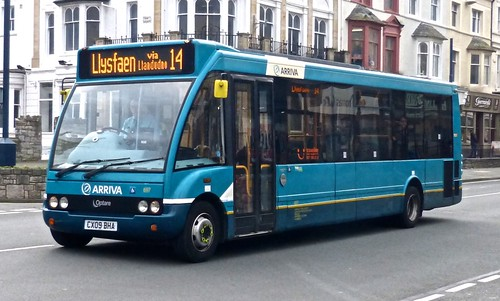 CX09 BHA  'Arriva Wales' 697 Optare Solo  on 'Dennis Basford's railroadsrunways.blogspot.co.uk'