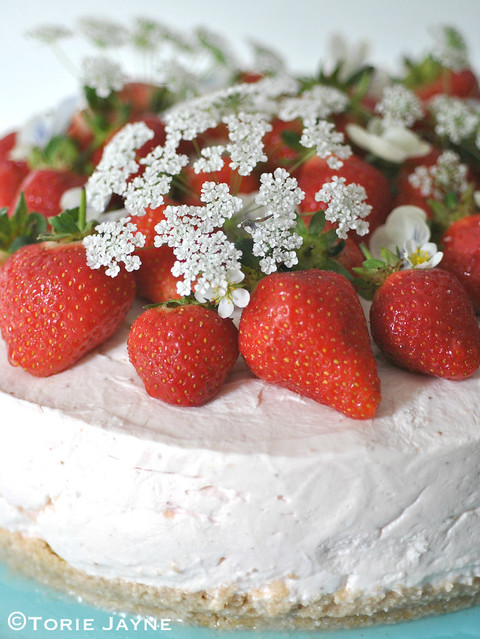 Gluten free Strawberry Cheesecake recipe 1