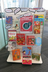 Chinese Language Week display - library at Te Hāpua: Halswell Centre