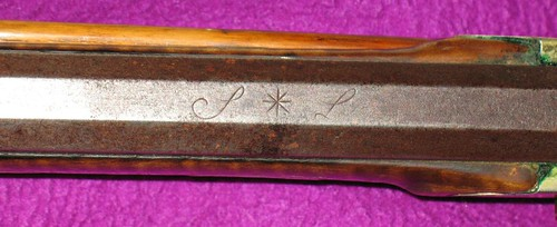 Swivel Breech Percussion Rifle By Samuel Loudenslager - Script Signature