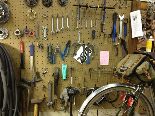 Ray's bicycle shop.  I am so jealous