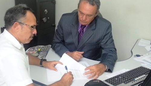 TV Blog do Jeso. Assinatura do contrato com a RBA/TV Santarém