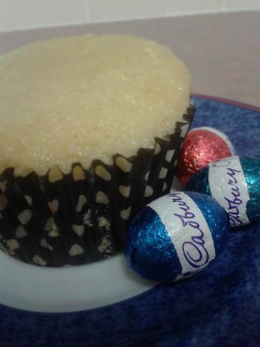 Easter Egg filled cupcake