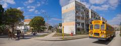 El reparto Virginia, modelo constructivo de edificios rusos Gran Panel i-464, el priimero de su tipo en Santa Clara. Levantado en los 70.  Cuba 2013