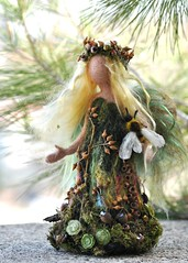 Needle felted Waldorf Love Forest Maiden- soft sculpture -needle felt by Daria Lvovsky