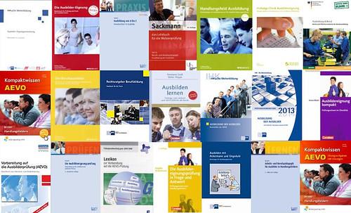 Collage Buchtitel zur Vorbereitung auf die AEVO-Prüfung, on Flickr