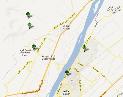 de Precinct of Amun-Re a Colossi of Memnon - Google Maps