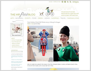 My photos featured on the HiP Paris Blog from Paris fashion week 2013