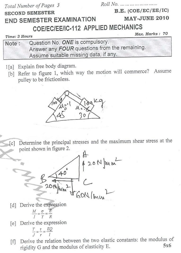 DTU Question Papers 2010 – 2 Semester - End Sem - COE-EC-EE-IC-112