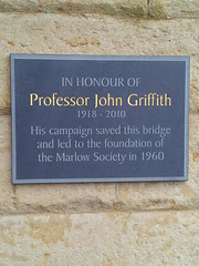 Photo of John Griffith slate plaque