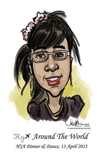 digital live caricature for HSA D&D 2013 - 1