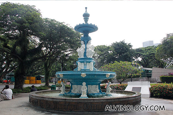 The ornate fountain in Esplanade Park