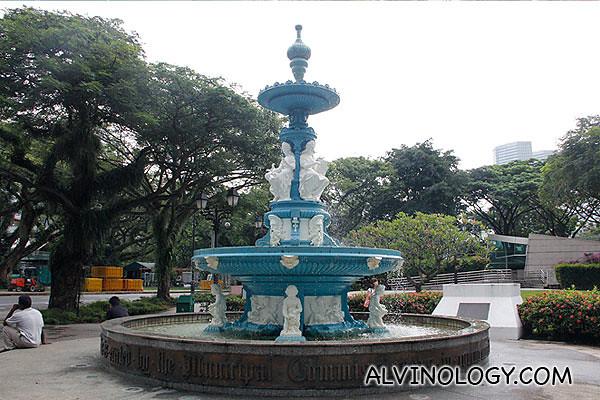 The ornate fountain in Esplanade Park