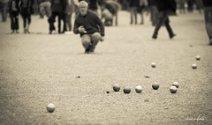 boules, pã©tanque, sports, monochrome, ball,
