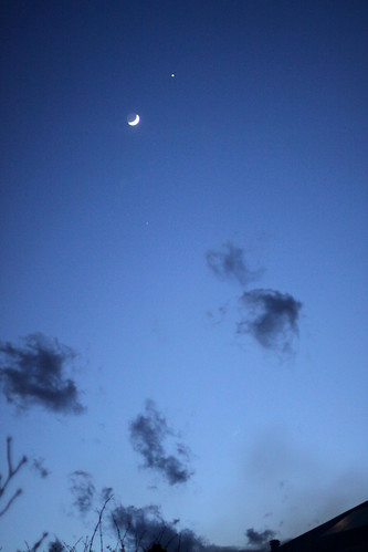 Moon and evening star