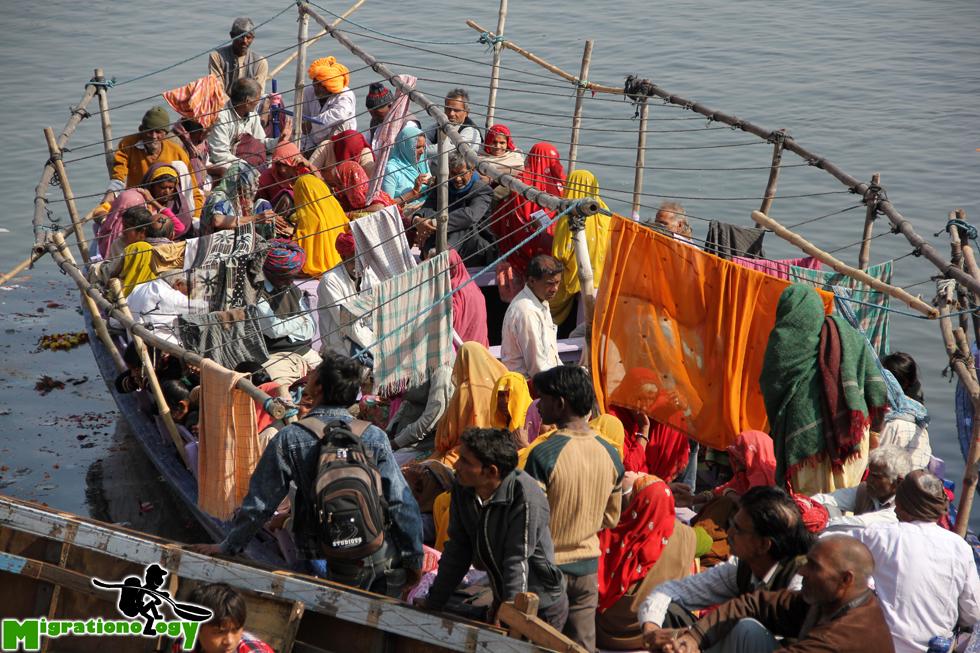 Boat in Varanasi, India