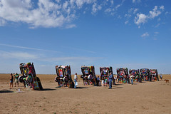 Cadillac Ranch - Turned Cadillacs