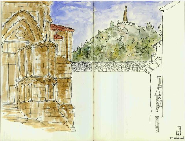 Cuenca: desde la Plaza Mayor   (39ºSketchcrawl)